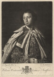 William Wentworth, 2nd Earl of Strafford, by James Macardell, after  Sir Joshua Reynolds - NPG D4326