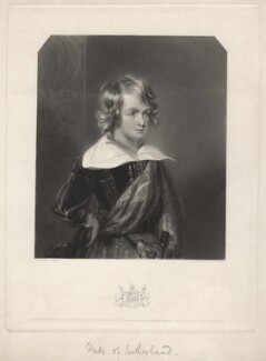 George Granville William Sutherland-Leveson-Gower, 3rd Duke of Sutherland when a boy, by William Oakley Burgess, after  D. Chisholm - NPG D4332