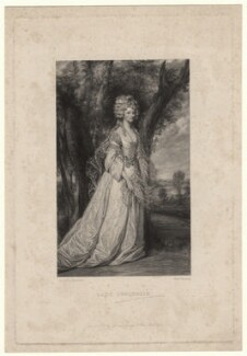 Phillippa Elizabeth Dorothy Malone (née Rooper), Lady Sunderlin, by Frederick Bromley, after  Sir Joshua Reynolds - NPG D4333