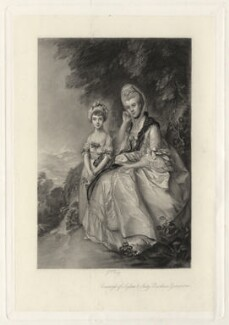 Hester (née Hall), Countess of Sussex; Lady Barbara Yelverton (when a child), by George H. Every, after  Thomas Gainsborough - NPG D4334