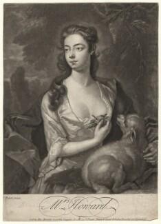 Henrietta Howard (née Hobart), Countess of Suffolk when Mrs Howard, by John Faber Jr, after  J. Peters, circa 1725-1750 - NPG D4335 - © National Portrait Gallery, London