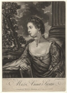 Anna Swan, by James Watson, printed for  Henry Parker, after  William Thomson - NPG D4340