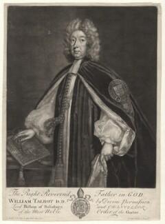 William Talbot, by John Faber Sr, after  Sir Godfrey Kneller, Bt - NPG D4348