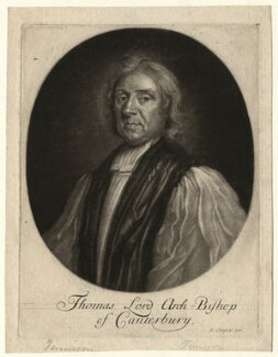 Thomas Tenison, published by Edward Cooper, after  Unknown artist, circa 1695-1725 - NPG D4354 - © National Portrait Gallery, London