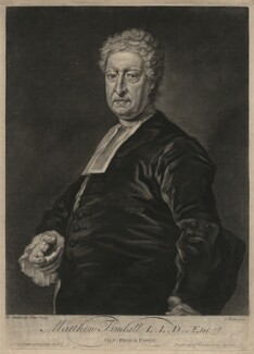Matthew Tindal, by and sold by John Faber Jr, after  Bartholomew Dandridge - NPG D4369