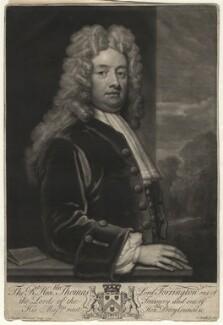 Thomas Newport, Baron Torrington, by John Smith, after  Sir Godfrey Kneller, Bt - NPG D4372