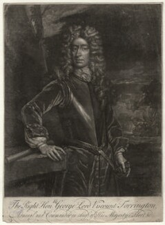 George Byng, 1st Viscount Torrington, by John Faber Sr, after  Sir Godfrey Kneller, Bt - NPG D4374