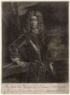 George Byng, 1st Viscount Torrington, by John Faber Sr, after  Sir Godfrey Kneller, Bt - NPG D4374
