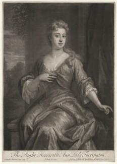 Anne Newport (née Pierrepont or Pierpont), Lady Torrington, by John Smith, after  Sir Godfrey Kneller, Bt, 1720 (1709) - NPG D4377 - © National Portrait Gallery, London