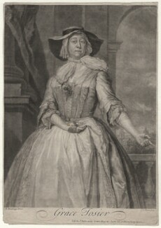 Grace Tosier, by and published by John Faber Jr, after  Bartholomew Dandridge - NPG D4379