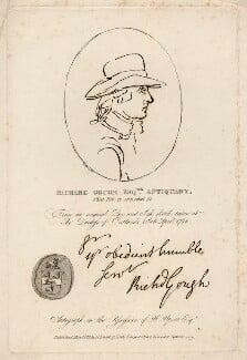 Richard Gough, by R. Sawyer, after  Unknown artist - NPG D4394