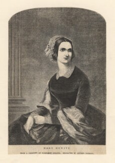 Mary Howitt (née Botham), by Alfred Harral, after  Margaret Gillies - NPG D4398