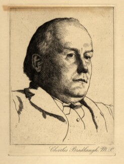 Charles Bradlaugh, after William Strang, circa 1890 - NPG D4414 - © National Portrait Gallery, London
