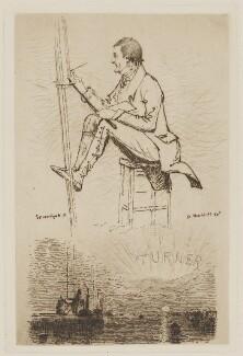 Joseph Mallord William Turner, by Samuel Haydon, after  Daniel Maclise - NPG D4423