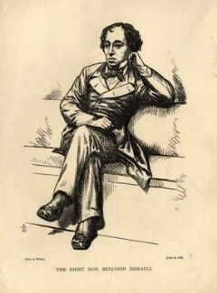 Benjamin Disraeli, Earl of Beaconsfield, by 'A.T.' - NPG D4426