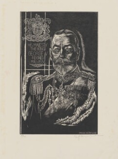 King George V, by Stefan Mrozewski - NPG D4439