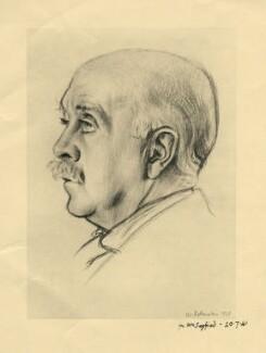 Sir Max Beerbohm, after Sir William Rothenstein, 20 July 1941 (1928) - NPG D4448 - © National Portrait Gallery, London