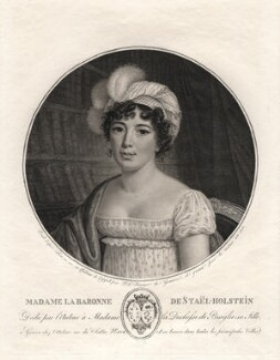 Anne Louise Germaine (née Necker), Madame de Staël-Hollstein, by Pierre-Louis Bouvier - NPG D4454