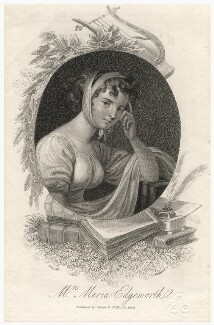 Unknown woman engraved as Maria Edgeworth, by Mackenzie, after  William Marshall Craig - NPG D4455