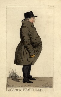 Benjamin Bovill ('A view of Beau-ville'), by and published by Richard Dighton - NPG D4466