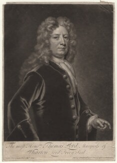 Thomas Wharton, 1st Marquess of Wharton, by and sold by John Smith, after  Sir Godfrey Kneller, Bt - NPG D4478