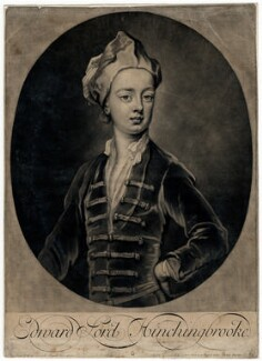 Edward Montagu, Viscount Hinchingbrooke, by John Smith, after  Sir Godfrey Kneller, Bt - NPG D4479