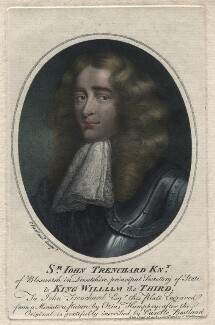 Sir John Trenchard, by and published by Charles Bestland - NPG D4514