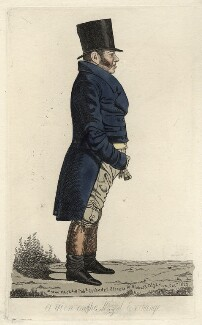 Richard Thornton ('A view on the Royal Exchange'), by and published by Richard Dighton - NPG D4515
