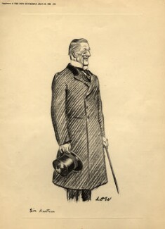 Sir (Joseph) Austen Chamberlain, after Sir David Low - NPG D4522