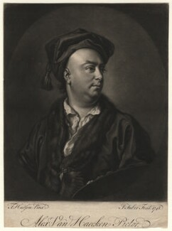 Alexander van Haecken, by John Faber Jr, after  Thomas Hudson - NPG D4535