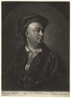Alexander van Haecken, by John Faber Sr, after  Thomas Hudson - NPG D4536