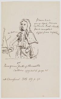 Peregrine Bertie, 3rd Duke of Ancaster, by Sir George Scharf - NPG D454