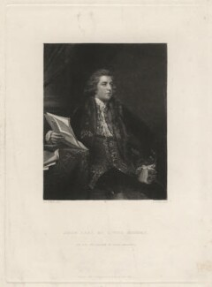 John Fitzpatrick, 2nd Earl of Upper Ossory, by Samuel William Reynolds, after  Sir Joshua Reynolds - NPG D4540
