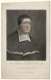 Sir Thomas Twisden, 1st Bt, by Charles Turner, after  Unknown artist - NPG D4549