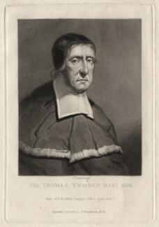 Sir Thomas Twisden, 1st Bt, by Charles Turner, after  Unknown artist - NPG D4550