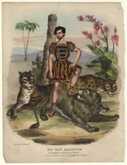 Isaac van Amburgh, by T.C. Wilson, printed by  Frederick Alvey - NPG D4554