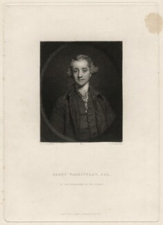 Henry Vansittart, by Samuel William Reynolds, after  Sir Joshua Reynolds - NPG D4556