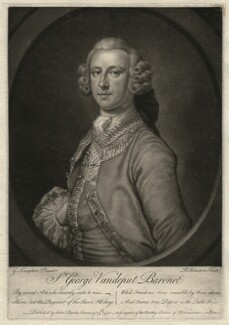 Sir George Vandeput, 2nd Bt, by Richard Houston, after  George Knapton - NPG D4560