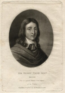 Sir Henry Vane the Younger, by Richard Earlom, after  Unknown artist - NPG D4561