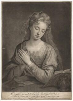 Catherine (née Kneller) Huckle as Mary Magdalene, by John Smith, after  Sir Godfrey Kneller, Bt - NPG D4569
