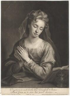 Catherine (née Kneller) Huckle as Mary Magdalene, by John Smith, after  Sir Godfrey Kneller, Bt - NPG D4570