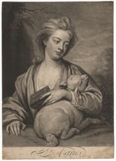 Catherine (née Kneller) Huckle as St Agnes, by John Smith, after  Sir Godfrey Kneller, Bt - NPG D4572