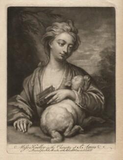 Catherine (née Kneller) Huckle as St Agnes, after Sir Godfrey Kneller, Bt - NPG D4574