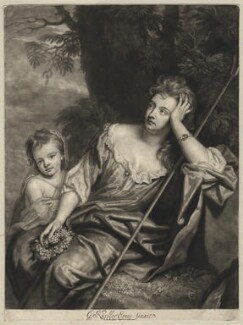 Mrs Voss and a child, by John Smith, after  Sir Godfrey Kneller, Bt - NPG D4576