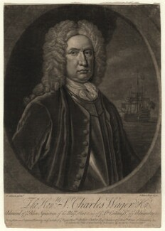 Sir Charles Wager, by John Faber Jr, after  Thomas Gibson - NPG D4579