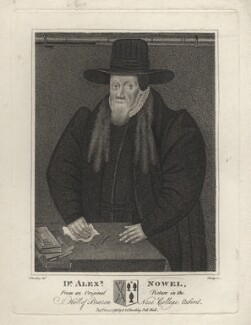 Alexander Nowell, by R. Clamp, published by  E. & S. Harding, after  Silvester Harding - NPG D4591
