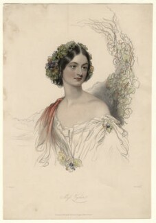 Hon. Theodosia Vyner, by William Henry Mote, published by  David Bogue, after  John Hayter - NPG D4599