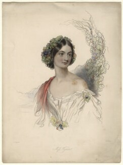 Hon. Theodosia Vyner, by William Henry Mote, published by  David Bogue, after  John Hayter - NPG D4600