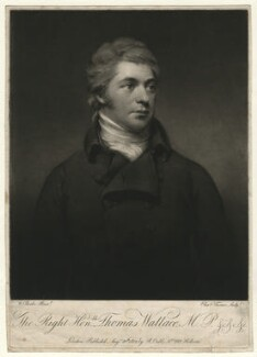 Thomas Wallace, Baron Wallace, by Charles Turner, published by  Robert Cribb, after  Theophilus Clarke - NPG D4607
