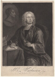 William Warburton, by Thomas Burford, after  Charles Philips - NPG D4611